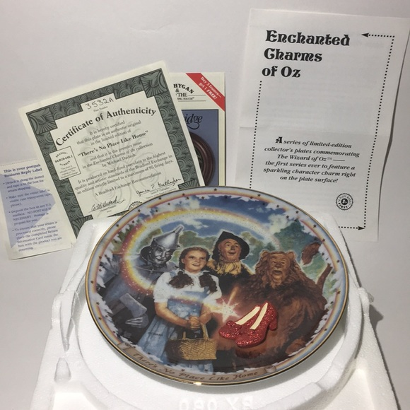 """Wizard Of Oz """"There's No Place Like Home"""" Plate"""
